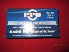 Cartouches PPU Cal  8X56RS