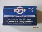 Cartouches PPU Cal 7.65x53 Argentine