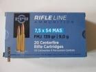 Cartouches PPU  Cal 7.5X54 MAS
