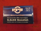 Cartouches PPU  Cal 6.5x55 Swedish