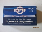 Cartouches PPU Cal 7.65x53 Argentine