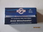 Cartouches PPU Cal 243 Winchester