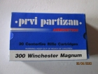 Cartouches PPU Cal 300 Winchester Magnum 168G